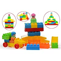 TANMAN TOYS Colorful Building Blocks Toy for Kids 2 Years to 5 Years, Big Size 40 Pieces Bricks in Bag Packing, Multi Color