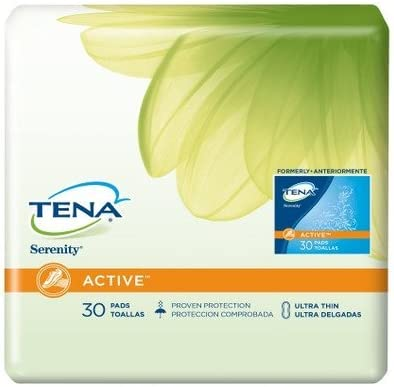 Amazon.com: MCK10053100 - Sca Incont Bladder Control Pad Tena Serenity Active 9 Inch Length Moderate Absorbency Polymer Female Disposable by Sca Incont: ...