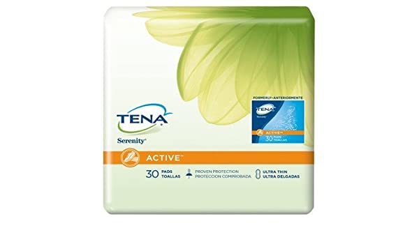 Amazon.com : Units Per Pack 30 Tena Serenity Light Pads Absorbency Light DriActive(TM) Slender Pad SCA Hygiene Products 46500 by SCA : Office Products