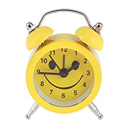 Alarm Clock Kids - Cute Expression Cartoon Round Bedroom Bell Alarm Clock Home Quartz Function Clocks Year Gifts - Machine Analog Cute Light Pokemon Dinosaur Minion Twin Electric Time