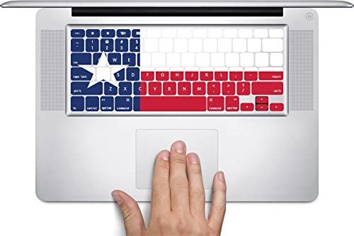 by This Mugs 4U Fits 12 inch Texas Flag MacBook Keyboard Decals