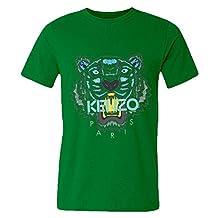 DHSVXBBBB Mens T-shirts Kenzo Logo 2016 Kelly Green Size S