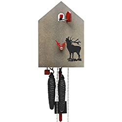 German Cuckoo Clock 1-day-movement Modern-Art-Style 7.90 inch - Authentic black forest cuckoo clock by Rombach & Haas