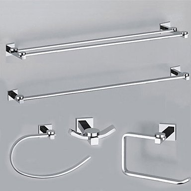 MEI Bathroom Accessory Set Chrome Wall Mounted Brass Contemporary by MEI