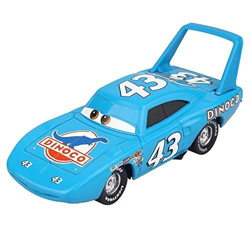 Hannaier Cars, Lightning McQueen car Toy 1:55 die-Casting car Metal Alloy boy Kid Toy (The King)