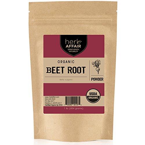 Herb Affair Organic Beet Root Powder - 1 Pound Bulk Package - Makes Excellent Beet Juice - Certified USDA Organic