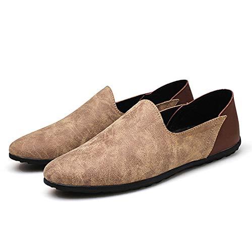 Size Slip Mens Casual da Uomo Basse in Kahaki 48 Big Successg Uomo 38 Shoes Primavera Scarpe Mocassini Mocassini Autunno da On Vera Pelle Scarpe w5x7IZqnZC