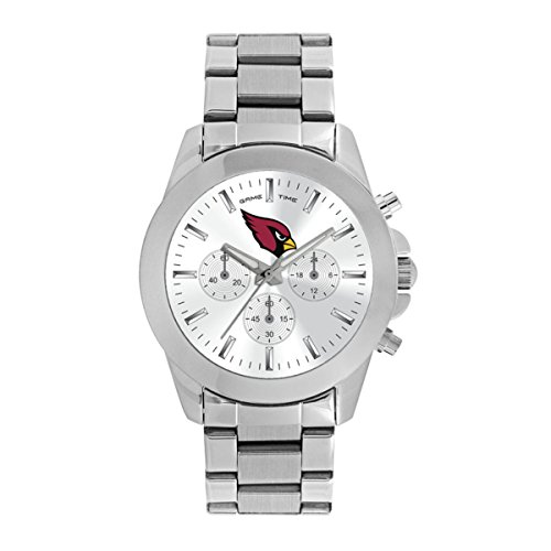 Game Time Women's 'Knock-Out' Quartz Stainless Steel Quartz Analog Watch, Color:Silver-Toned (Model: - Arizona Sport Watch