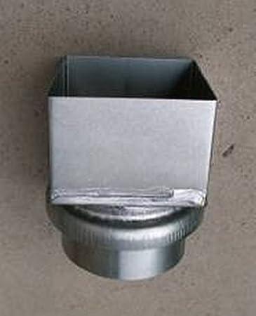 /Übergang Kastenrohr auf Fallrohr Titanzink in den Gr/ö/ßen 80 und 100 mm gro/ß