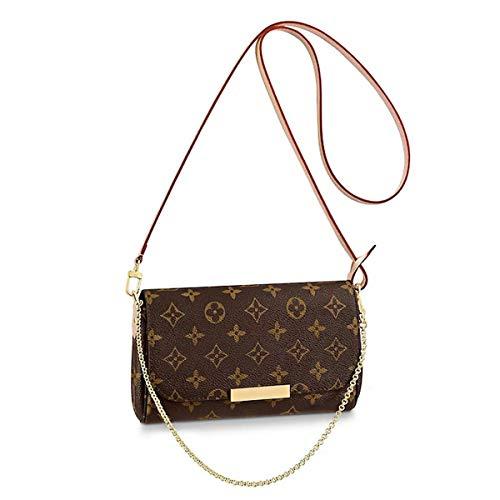 Women's Canvas Pochette Favorite MM Double-use Chain Flap Bag Small Crossbody Bag Shoulder Bag