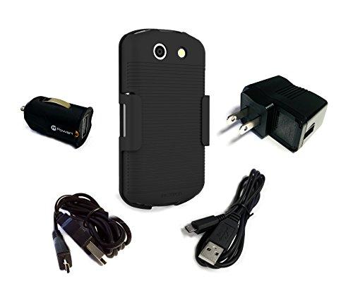 Kyocera DuraForce E6560 E6762 E6560C Swivel Belt Clip Holster and Power Pack Combo