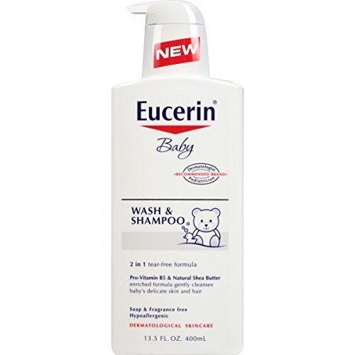 Baby, Wash & Shampoo, Fragrance Free, 13.5 fl oz (400 ml) - Eucerin