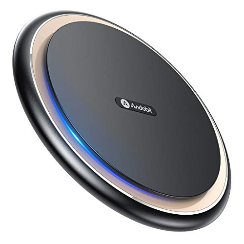 Andobil Boost 15W Fast Wireless Charger, USB-C Qi Alloy Cooling Charging Pad Station 10W 7.5W Compatible iPhone 11/11 Pro Max/XS MAX/XR/XS/X/8, Samsung Galaxy Note 10/S10/S9/S8, LG V40/G7, AirPods Pro