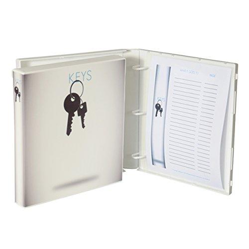 Spare Key Storage and Organizer (White) (White Box Ring Binder)