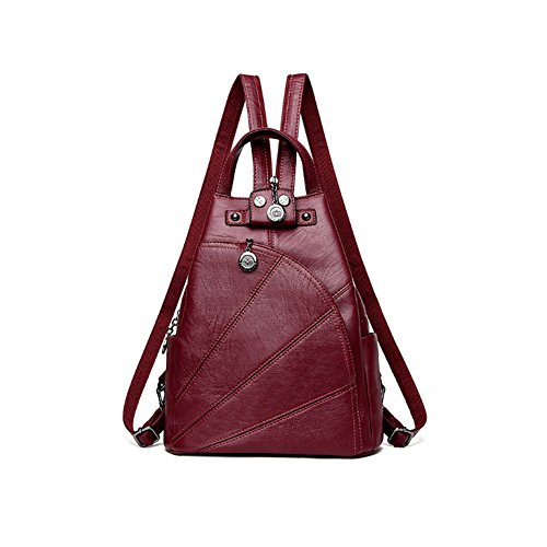 Artwell Women Leather Backpack Convertible Purse Handbag Small Crossbody Sling Shoulder Bag Travel Daypack