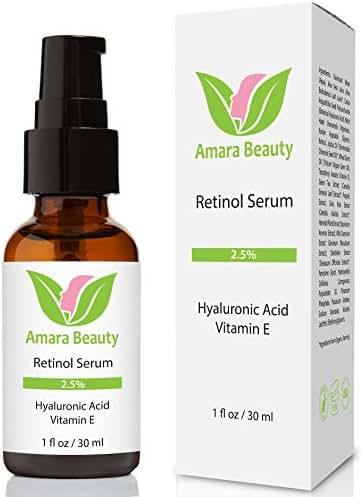 Retinol Serum 2.5% with Hyaluronic Acid & Vitamin E, 1 fl. oz.