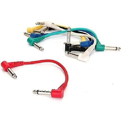 6pcs/Set Cable de Cobre de Alambre Cable Enchufe Jack para Guitarra Pedal de Efectos