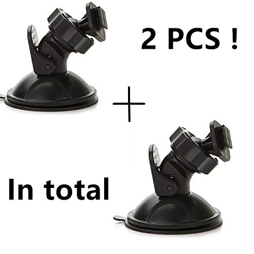 EVASA Camera Suction Mount,2 Suction Mount,for Dashcam Cam Camera DVR Video Recorder Vm Mount Kit