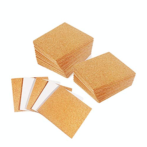 30 Pack SelfAdhesive Cork Squares 4 x 4 Inch Mini Backing Cork Tiles Sheets for Coasters and DIY Crafts
