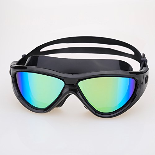Swimming Goggles, Yannic Oversize 2.0 Swim Goggles No Leaking Anti Fog UV Protection by Yannic