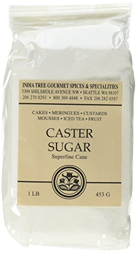 Extra Fine Sugar - India Tree Superfine Caster Baking Sugar, 1 lb. bag