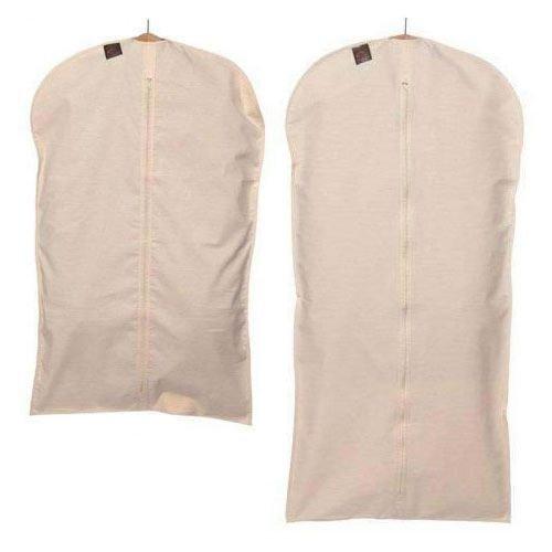 Caraselle 89-1 99 x 60 cm 100% Natural Unbleached Cotton Suit Cover - Beige