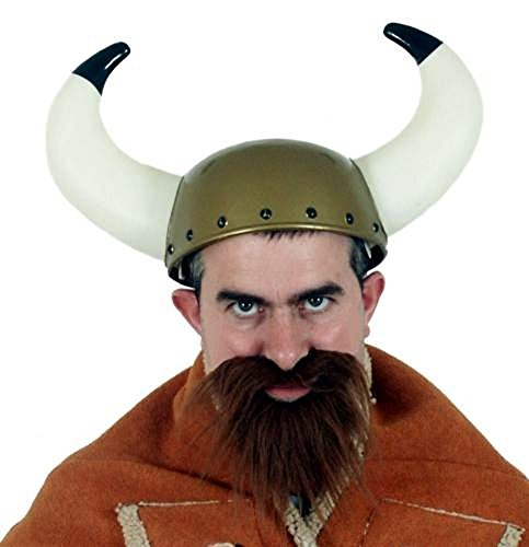 Jacobson Hat Company Men's Viking Helmet with Horns, Gold, One Size