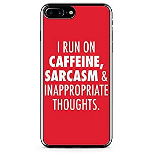 iPhone 8 Plus Transparent Edge Phone case Sarcastic Phone Case Coffee Love Phone Case Thoughts iPhone 8 Plus Cover with Transparent Frame