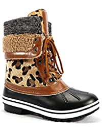 Womens Fur Lined Warm Winter Outdoor Snow Boots