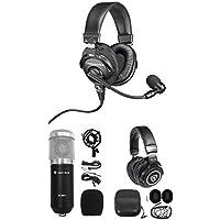 Audio Technica BPHS1 Over-Ear Broadcast Headset w/boom+Studio Mic+Headphones