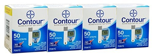 Bayer's 200 Count CONTOUR Blood Glucose Test Strips (Bayer Blood Glucose Test Strips)