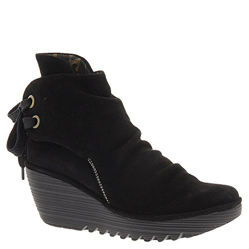 FLY London Women's Yama Ankle Boot, Black Oiled, 38 EU/7.5-8 M US
