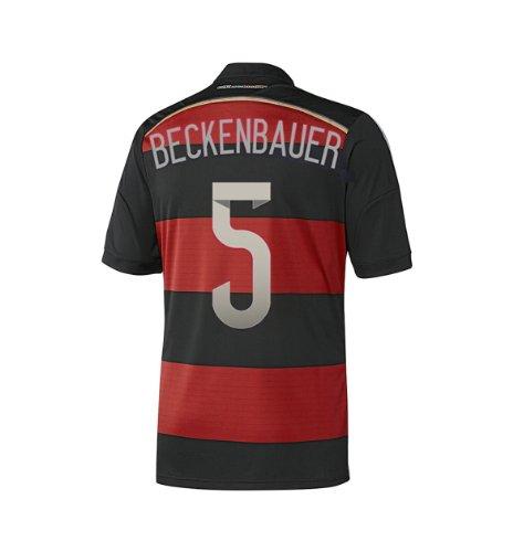 BECKENBAUER #5 Germany 4 Stars Away Jersey Champion WC 2014 YOUTH. (YXL)