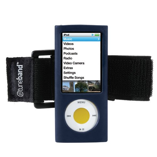 TuneBand for iPod nano 5th Generation (Model A1320, Rear Camera), Premium Armband, Compatible with Nike+iPod, NAVY (Ipod A1320)