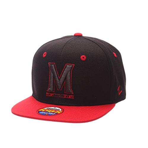 Zephyr NCAA Maryland Terrapins Children Boys Youth Z11 Phantom Snapback Hat, Adjustable Size, Black/Team Color (Maryland Hat Zephyr)