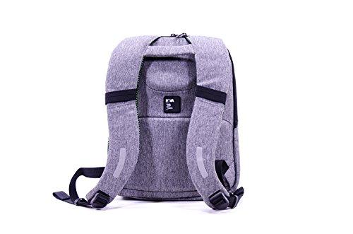 Nava Traffic Backpack Small Grey/Apple