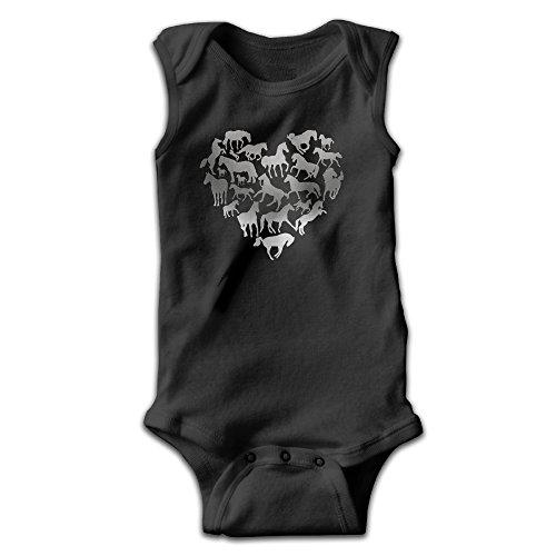 Newborn Horse Costume (Baby Infant Romper Love Heart Horse Sleeveless Jumpsuit Costume Newborn)