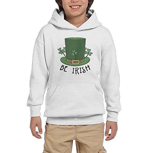 St. Patrick's Day Be Irish Teen Boys Pullover Hoodie Athletic Pocket Sweatshirts