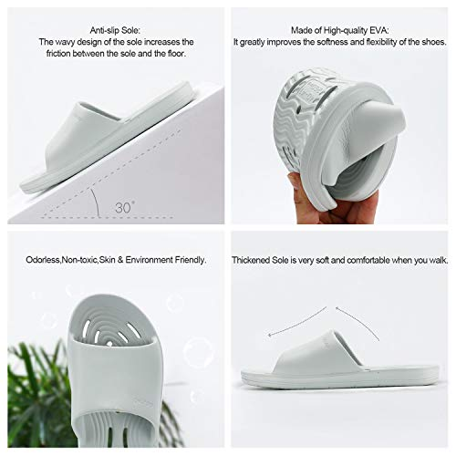 26cd965ed50b OKSOO Shower Sandals Gym Quick Drying Bath Slippers for Women and Men  Non-Slip Drainage