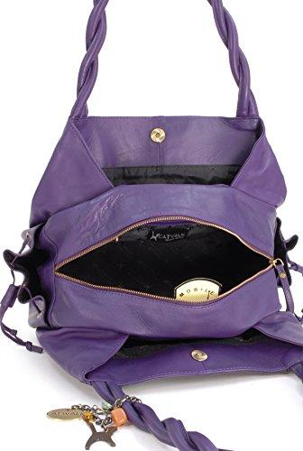 Violet signé Catwalk sac Grand Collection main cuir Caz à en zxqvYB1