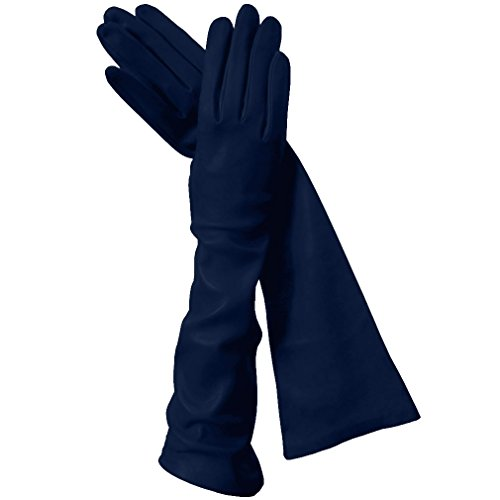 - Long Italian Leather Gloves. Lined in Silk. 8