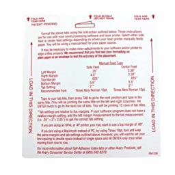 AVE16241 - Self-Adhesive Tabs with White Printable Inserts