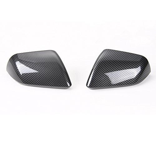 For Ford Mustang UAS Version 2015 2016 2017 ABS Carbon Fiber Grain Car Rear View Mirror Cover Decor Decal Frame Sticker - Covers Mirror Mustang