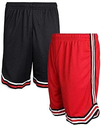 Mad Game Boys Athletic Mesh Basketball Shorts (2 Pack) - Black - 12/14