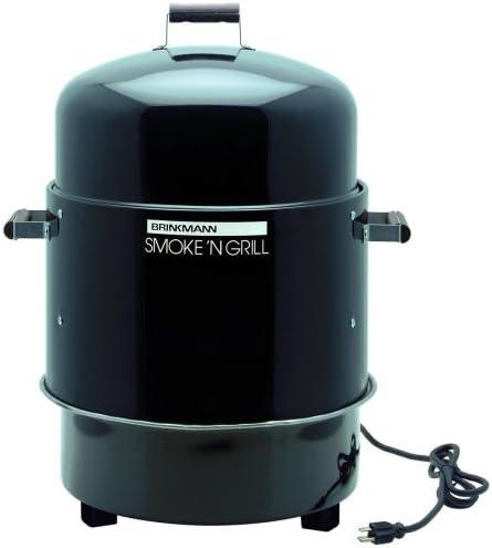 Amazon Com Brinkmann 810 5290 4 Smoke N Grill Electric Smoker And Grill Black Garden Outdoor