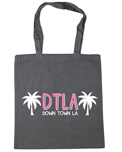 HippoWarehouse DTLA (de la ciudad la) bolso de compras bolsa de gimnasio playa 42cm x38cm, 10litros gris grafito