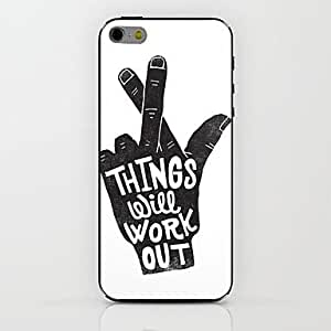 QYF White Finger Pattern hard Case for iPhone 6