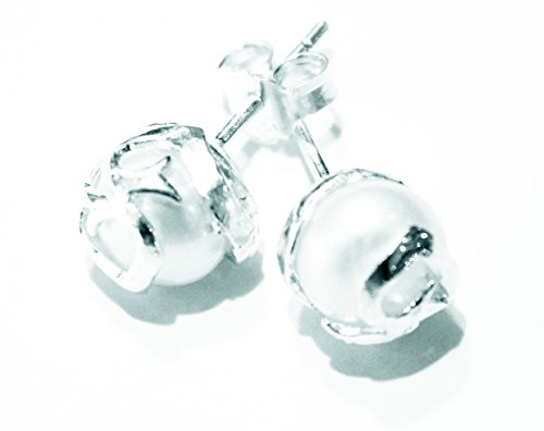 PEARL EARRINGS - Round Texas Outlet Rock