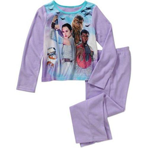 [Star Wars Girls' 2 piece Flannel Pajama Set (7/8)] (Star Wars Boba Fett Girls Costumes)