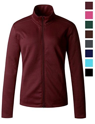 Regna X Womens Plus Size Furry Warm Full Zip up Fleece Jacket Red XL X-Large ()
